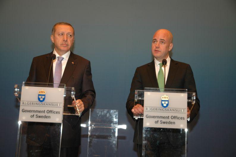 Erdoğan'nın İsveç Başbakanı ile ortak basın toplantısı