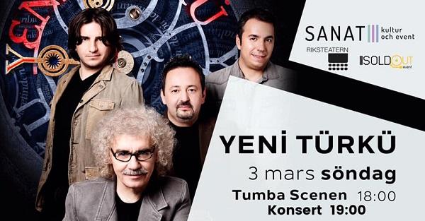 3 MART PAZAR GÜNÜ 'YENİ TÜRKÜ' KONSERİNDE BULUŞALIM!