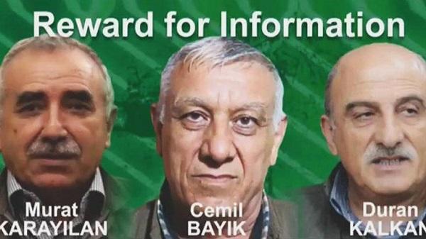 ABD, ÜÇ PKK LİDERİNİN BAŞINA ÖDÜL KOYDU