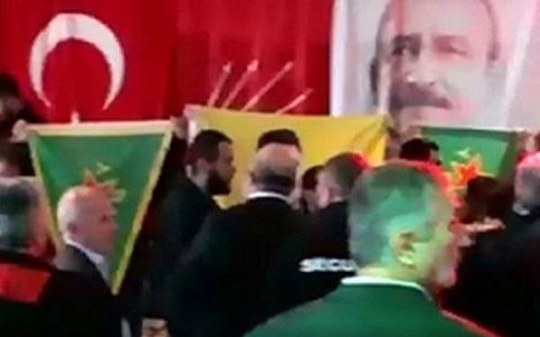 İSVİÇRE'DE PKK'LİLER CHP ETKİNLİĞİNİ BASTI
