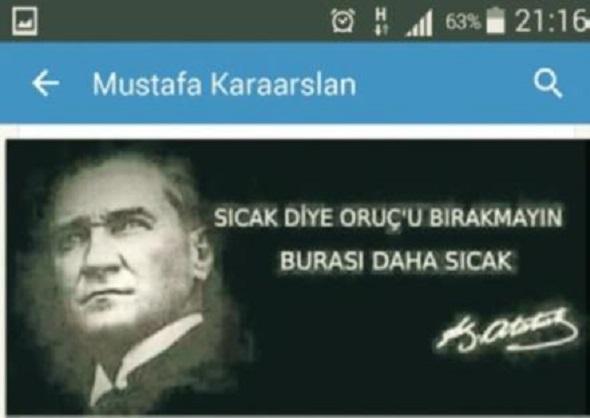 Milli Eğitim Müdürü'nden Atatürk'lü ahlaksız Ramazan paylaşımı