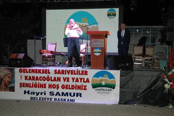 SARIVELİLER GELENEKSEL KARAC'OĞLAN FESTİVALİ YAPILDI