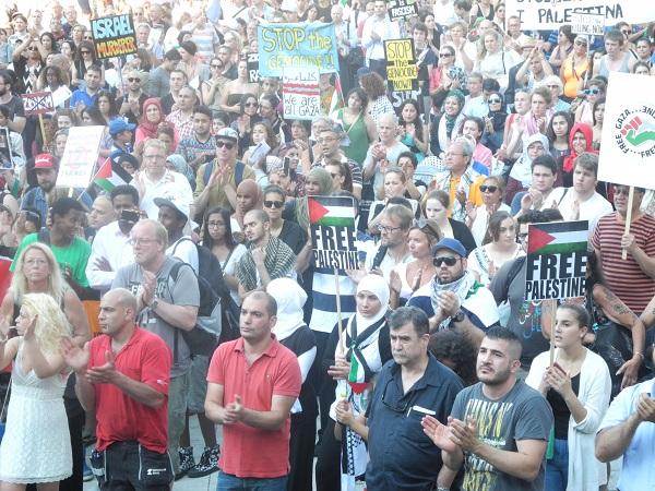 STOCKHOLM'DE 4.KEZ İSRAİL PROTESTO EDİLDİ