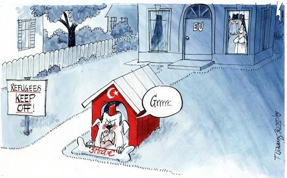 3 milyar avroluk kemik: Türkiye 'AB'nin bekçi köpeği' olarak resmedildi