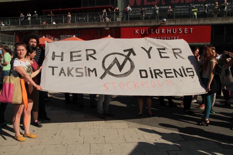 """""""Taksim Direnişi"""" ne Stockholm'dan destek sürüyor"""
