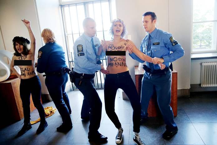FEMEN BU KEZ DE MAHKEMEDE SOYUNDU