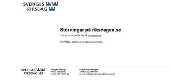 Hükümetin İnternet Sayfası Saldırıya Uğradı