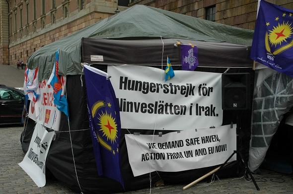 İsveç'te Irak'taki Işid terörüne karşı açlık grevi