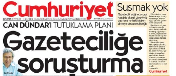 CUMHURİYET GAZETESİ'Nİ DESTEKLİYORUZ