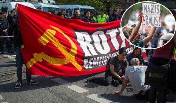 Berlin'de Türk semtine yürüyen ırkçılara 5 bin kişilik etten duvar