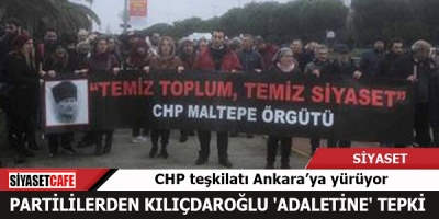 MALTEPELİ CHP'LİLER ANKARA'YA YÜRÜYOR
